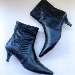 Bandolino Pointed Toe Zip Booties